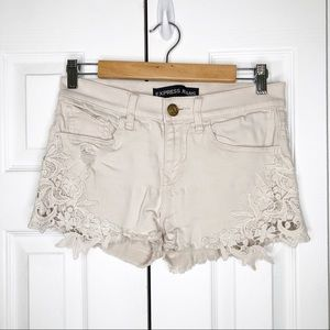 EXPRESS Jeans Cream Shorts 2